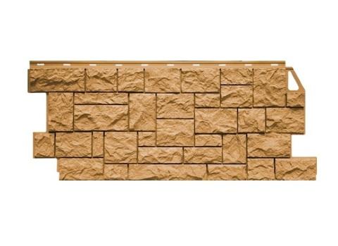 Фасадная панель Камень дикий ФайнБир - Песочный