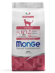 Monge Cat Monoprotein Sterilised Beef Сухой корм для стерилизованных кошек с говядиной