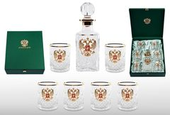 Хрустальный набор для виски со штофом «Президент», фото 2