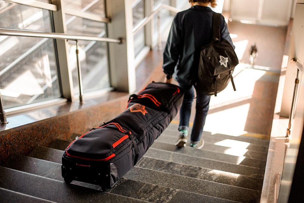 Чехол для сноуборда Born на колесах 156/166 см Черный/камуфляж (0099990)