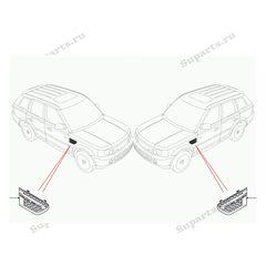 Жабры воздухозаборника Range Rover Sport 2010-2012