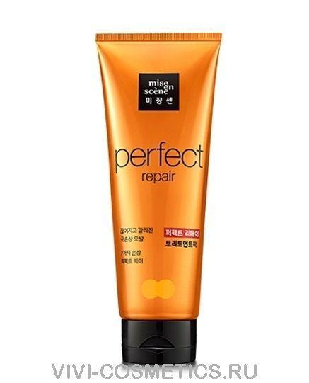 Восстанавливающая маска для поврежденных волос 7 масел |  Mise en Scene perfect repair treatment (180 vмл)