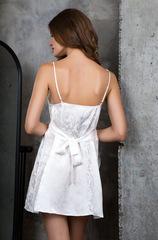 Платье белое шелковое домашнее 15154