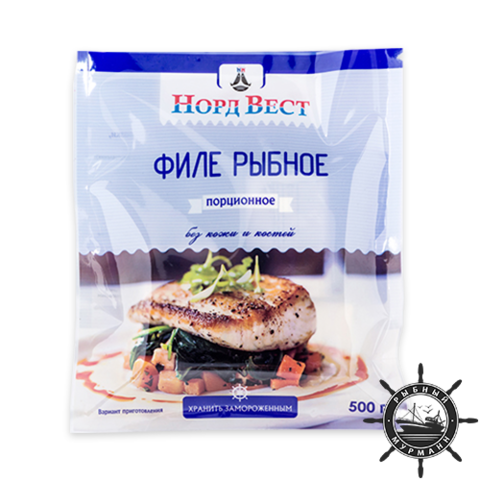 Филе пикши (порционное/пакет), 500 г