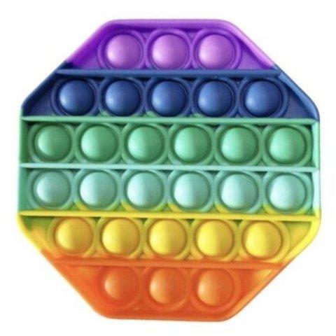 Поп Ит Игрушка антистресс Вечная пупырка Попит 13 х 13 см разноцветный восьмиугольник POP IT