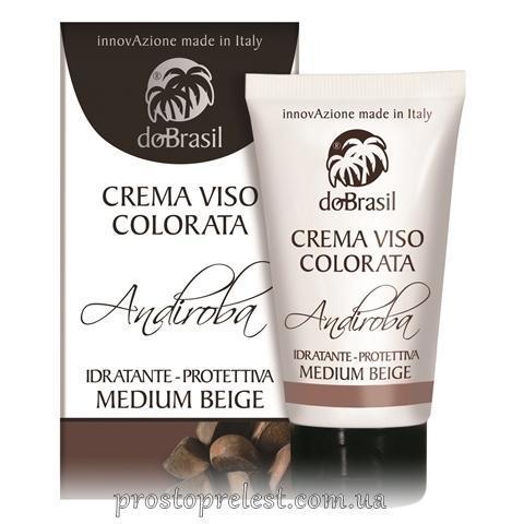 Dobrasil crema viso colorata andiroba, idratante-protettiva medium beige - ВВ крем с маслом андиробы,тон