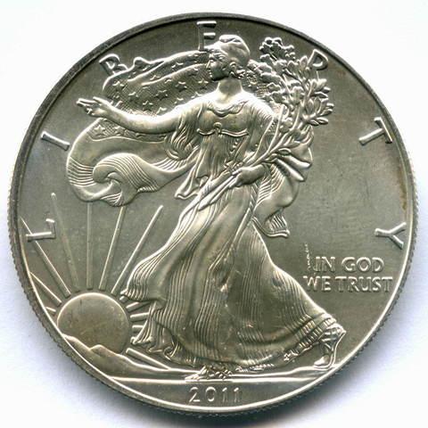 """1 доллар 2011 год США """"Шагающая свобода"""" AU"""