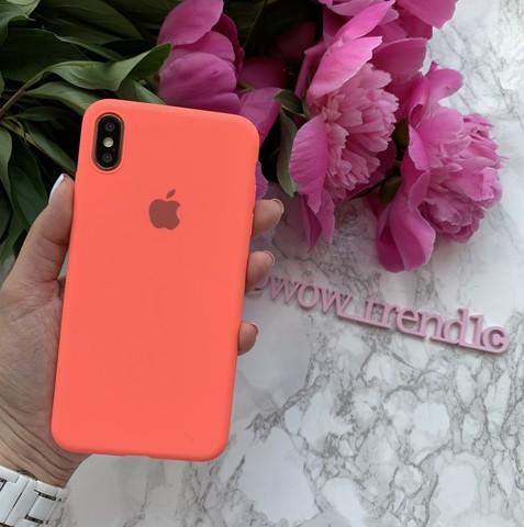 Чехол iPhone XS Max Silicone Slim Case /coral/