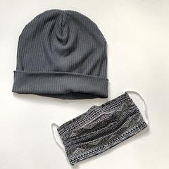 Комплект из шапки и многоразовой маски для лица