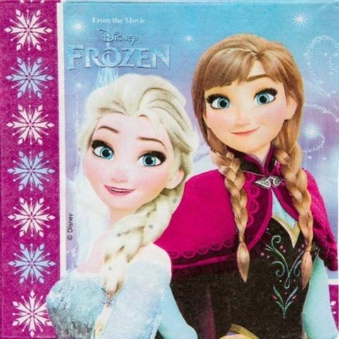 Салфетка Frozen Сев сияние 33см 20шт