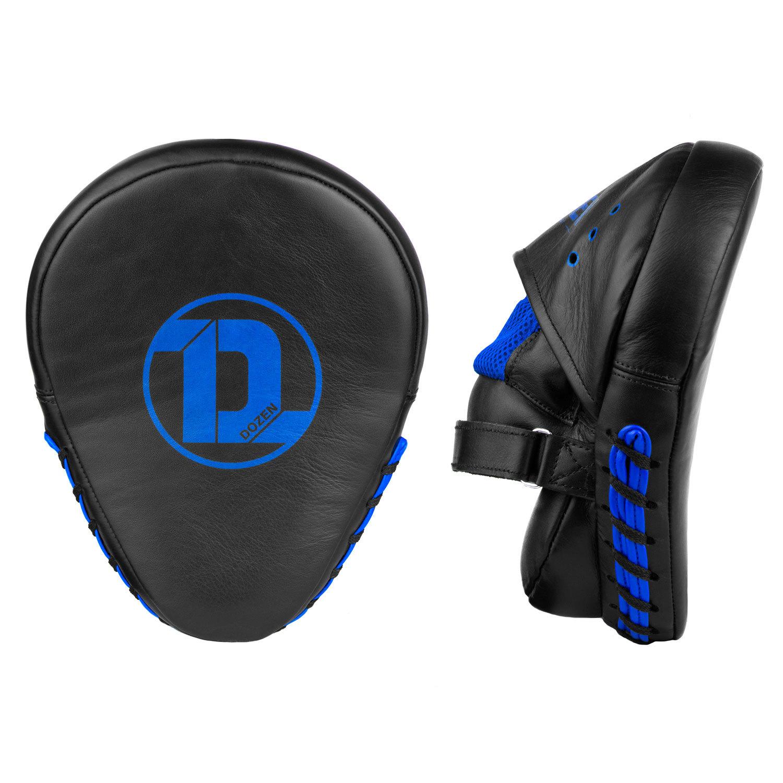 Лапы Dozen Monochrome черно-синие фронтальный и боковой вид
