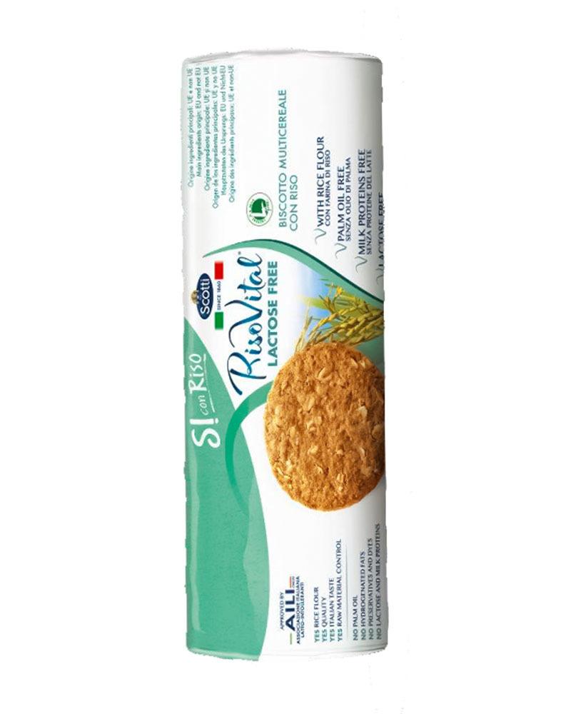Печенье Riso Scotti цельнозерновое с рисом, безлактозное 250 гр.