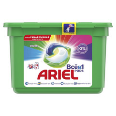 Капсулы для стирки Ariel 3 в 1 для цветного белья 432 г (15 капсул в упаковке)