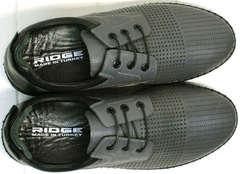 Модные спортивные туфли мокасины мужские на лето Ridge Z-430 75-80Gray.