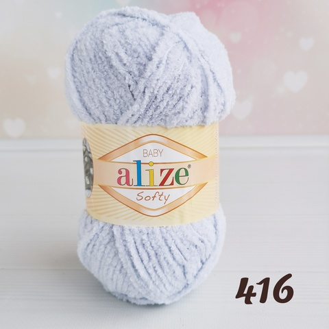 ALIZE SOFTY 416, Серый