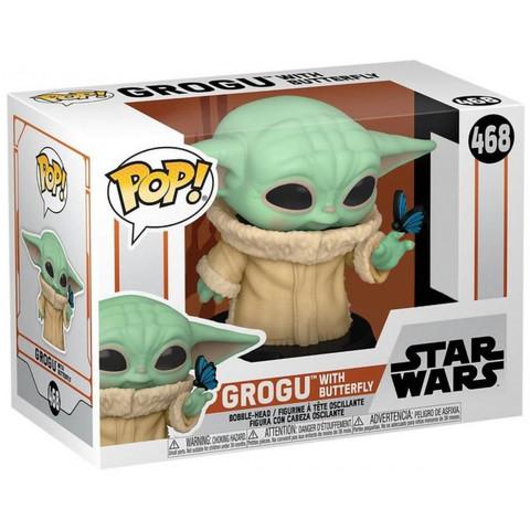 Фигурка Funko POP! Bobble Star Wars Mandalorian Grogu with Butterfly (Exc) 54529