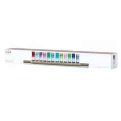 Набор разноцветных стопок для водки на подставке Paddle LSA International, 12 шт, фото 2