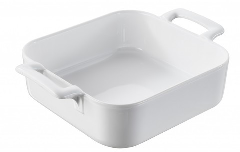 Квадратная фарфоровая форма для запекания, белая, артикул 621426, серия Belle Cuisine