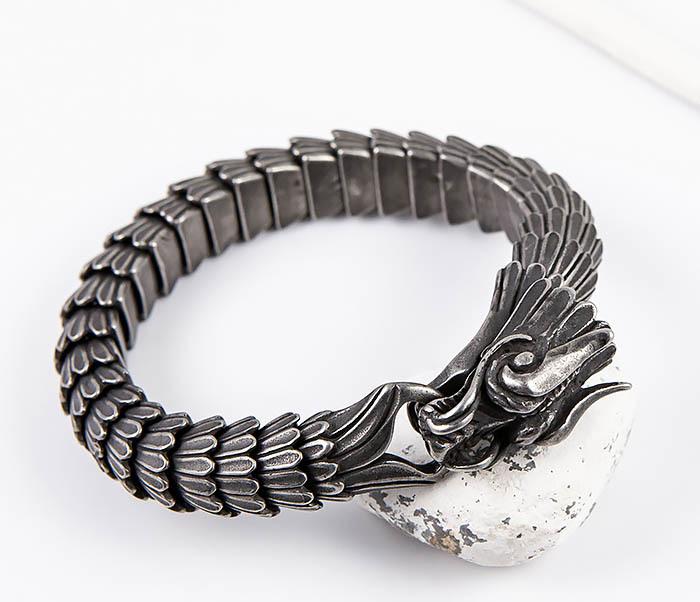 BM557 Оригинальный стальной браслет «Дракон»