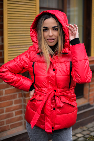 Куртка плащевка с капюшоном женская Nadya
