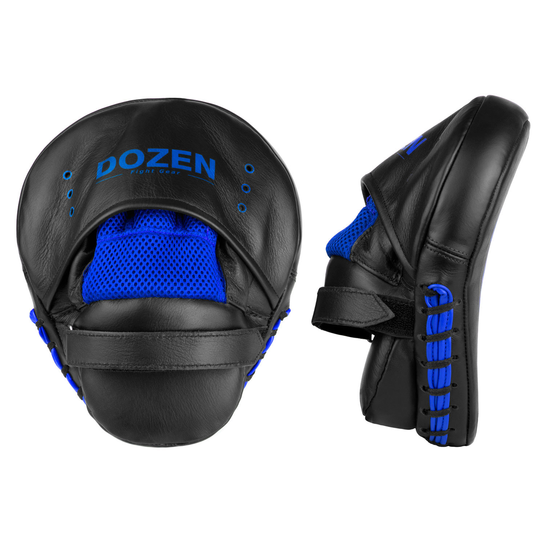 Лапы Dozen Monochrome черно-синие вид сзади и сбоку