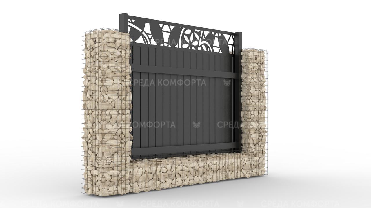 Забор из профлиста 2500х2000 мм ZBR0031 (ворота)