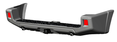 Бампер АВС-Дизайн задний с квадратом под фаркоп UAZ Патриот 2015-, лифт(под покраску)