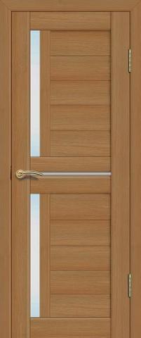 Дверь La Stella 202, стекло матовое, цвет дуб сантьяго, остекленная