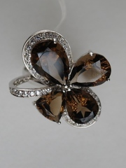 1100394-раухтопаз (кольцо из серебра)