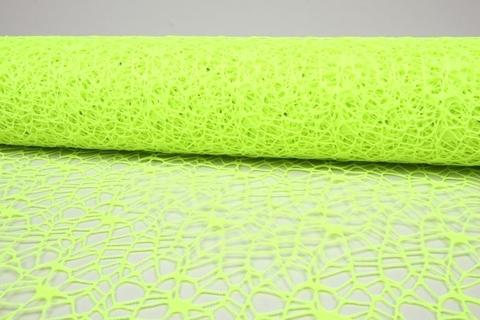 Сетка Ажурная (размер:50 см х 5 ярд) Цвет:салатовый-неон