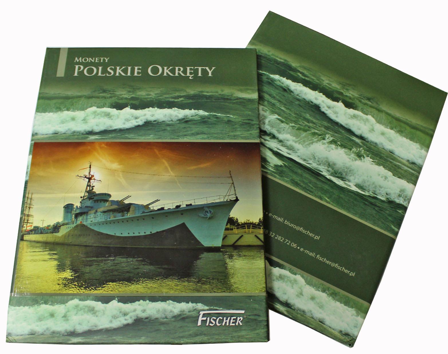 """Альбом для польских монет серии """"Польские корабли"""" (2012-2013 гг.) на 8 ячеек"""