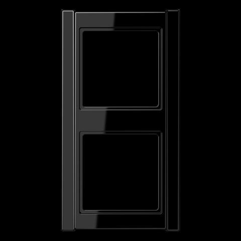 Рамка на 2 поста. Цвет Чёрный. JUNG A 500. A582SW