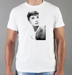 Футболка с принтом Одри Хепбёрн (Audrey Hepburn) белая 003