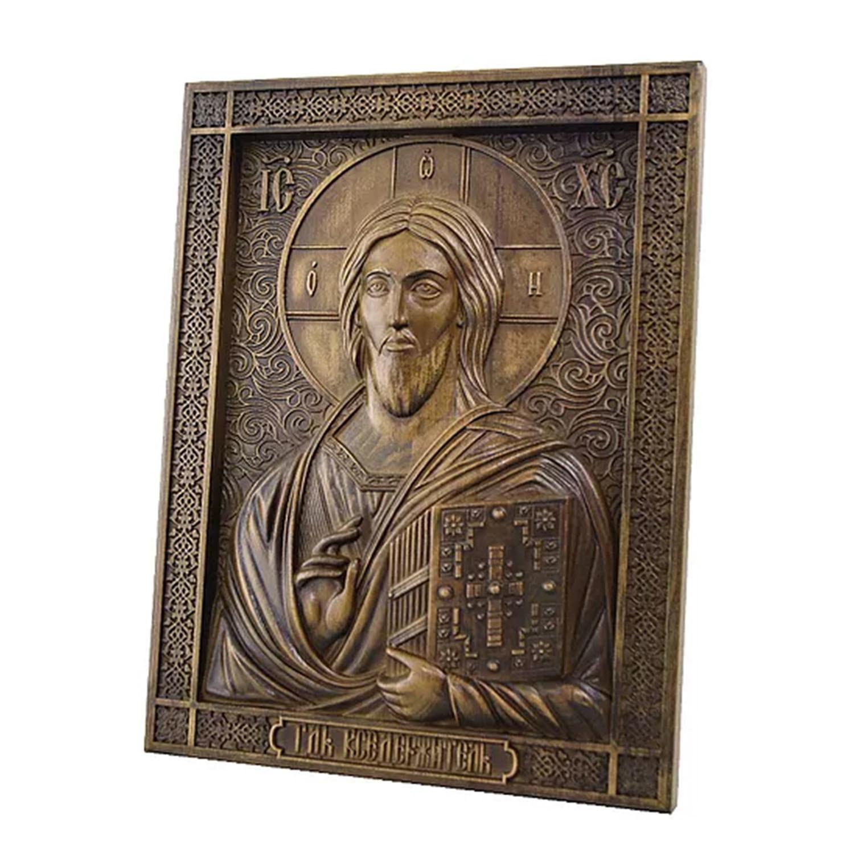 Резная икона Господь Вседержитель