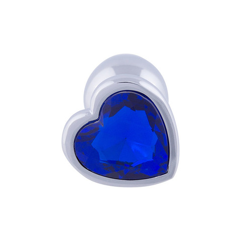 Анальная пробка сердце (синий)