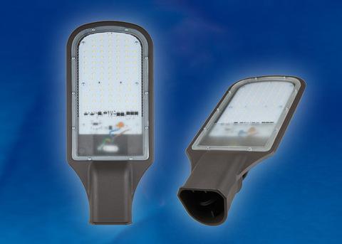 ULV-R22H-70W/DW IP65 GREY Светильник светодиодный уличный консольный. Дневной белый свет (6500K). Угол 110 градусов. TM Uniel.