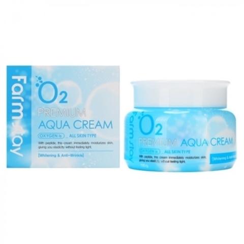 Увлажняющий кислородный крем с пептидами Farm Stay O2 Premium Aqua cream