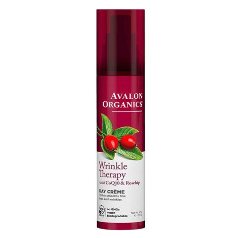 Avalon Organics CoQ10 & Rosehip: Дневной увлажняющий крем против морщин с коэнзимом Q10 и шиповником (Wrinkle Therapy With CoQ10 & Rosehip Day Creme), 50г