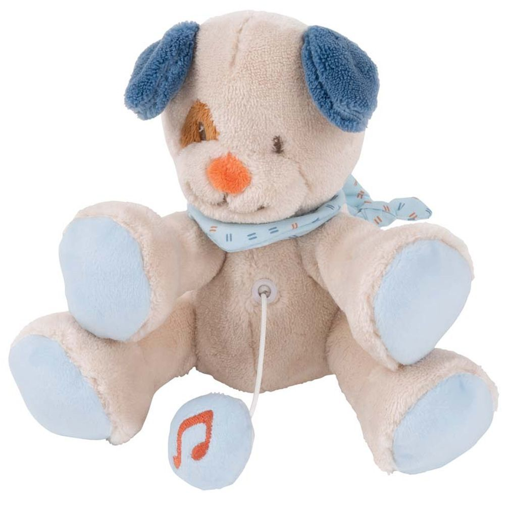 Мягкая музыкальная игрушка Nattou Soft Toy Mini Jim & Bob Собачка