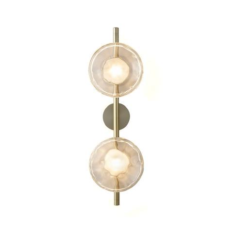 Настенный светильник копия Ceto by Ross Gardam 2 плафона на ножке (золотой)