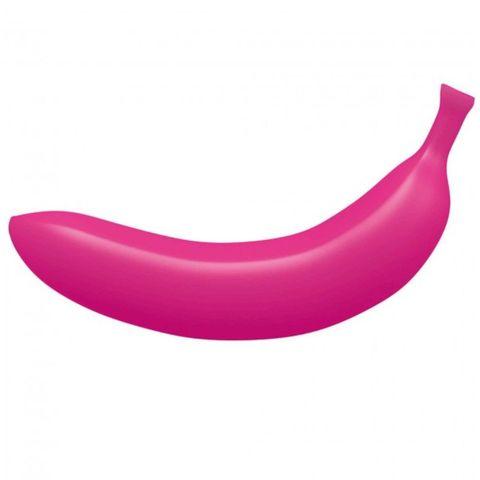 Розовый вибратор-банан Oh Oui! - 17,5 см.