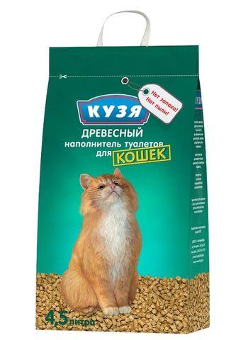 КУЗЯ наполнитель древесный для кошек 4,5 л.