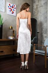 Сорочка белая шелк жаккар