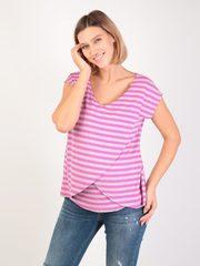 Евромама. Блуза для беременных и кормящих на запах вискоза, сиреневый вид 1
