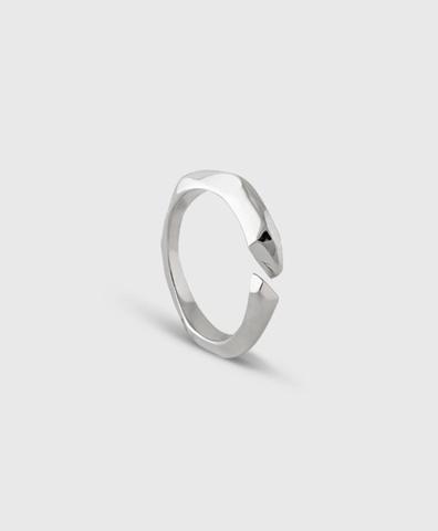 Кольцо Полигон open white