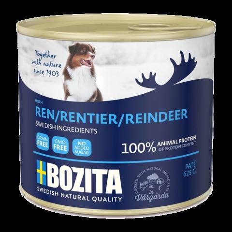 Bozita Reindeer Консервы для собак мясной паштет с оленем (банка)