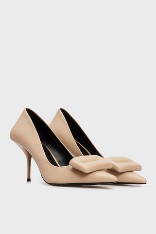 Женские бежевые кожаные туфли Mersedes PRPY