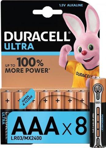 Батарейки Duracell Turbo/Ultra LR03, AAA (8/80) BL