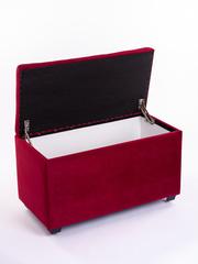 Пф-800-Я Пуфик квадратный (красный) с ящиком для хранения