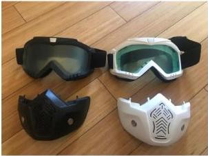 Защитная тактическая маска с очками